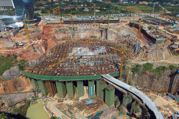 湘江欢乐城施工新进度:世界最大室内冰雪乐园钢结构施工启动 - 智汇国际 - 智汇国际的博客